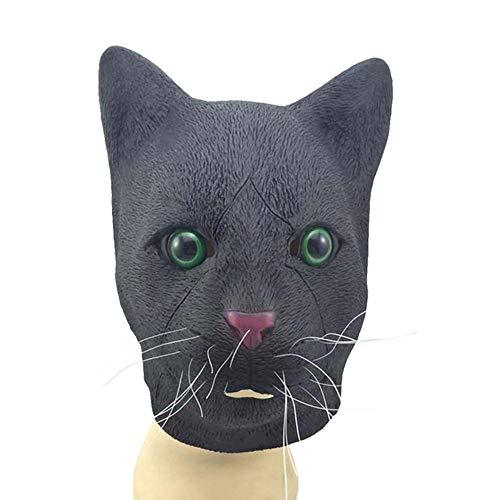 (Katze Halloween Maske, Scary Gesichtsmaske Halloween Karneval Weihnachtsfeier Dekoration Erwachsenen Kostüm Zubehör)
