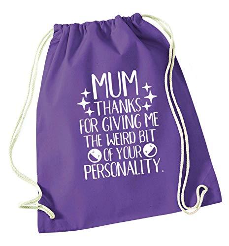 Flox Creative Tasche mit Kordelzug Mum Love More Than Halloumi, violett