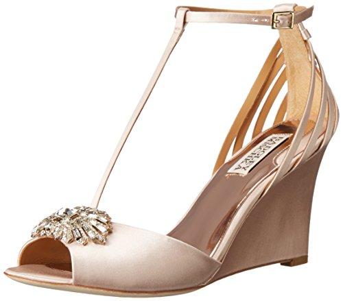 Badgley Mischka Milly Textile Keilabsätze Sandale Pink
