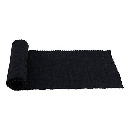 Milopon Klaviertastatur Anti-Staubschutzhaube Tastaturabdeckung Tuch Schmutz-Beweis Staub Schutzhülle für Klavier Reinigung Pflege 127 * 15 cm (Schwarz)