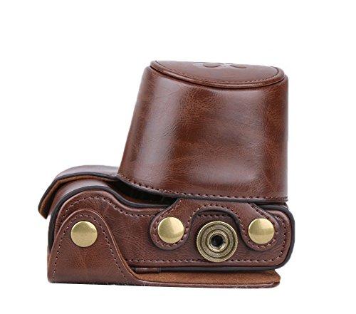Tasche Schutztasche für Sony a5100 / A5000 mit 16-50mm Objektiv (Kaffee) (A5100-sony-kamera)
