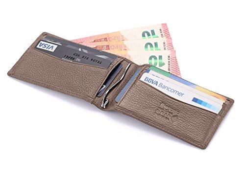flintronic Porta Carte di Credito, Portafoglio Sottile Uomo i Clip in Pelle RFID/NFC Blocco Fermasoldi Tasche per Documenti, Tessere, Carta d'identità, Soldi, Carta di Credito, Biglietti ecc.