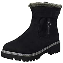 s.Oliver Women's Da-Stiefel Snow Boot, Black, 6 UK