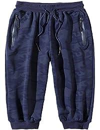 Xinwcang Hombre Pantalones Cortos Vaqueros Básicos Slim Fit Skinny Stretch Jeans Denim Sweatpants Pantalones