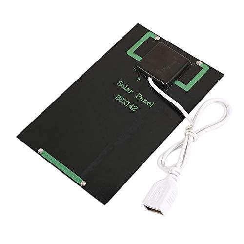 FlYHIGH 2W 5V Panel Solar Ventilador USB Portátil