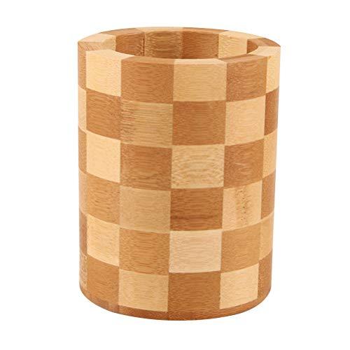 TOPBATHY Soporte Utensilios Cocina Bambú Organizador