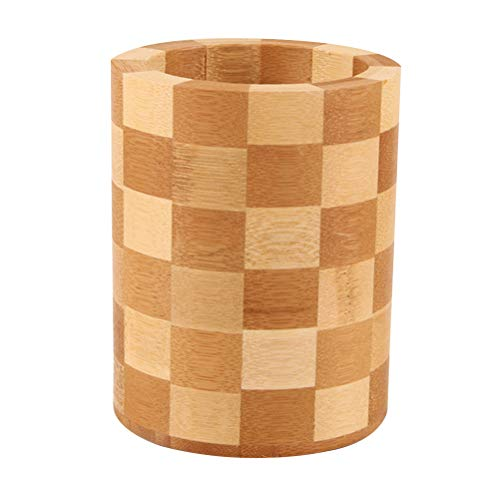 Bambú Natural Madera Utensilios Cocina Palillos Organizador