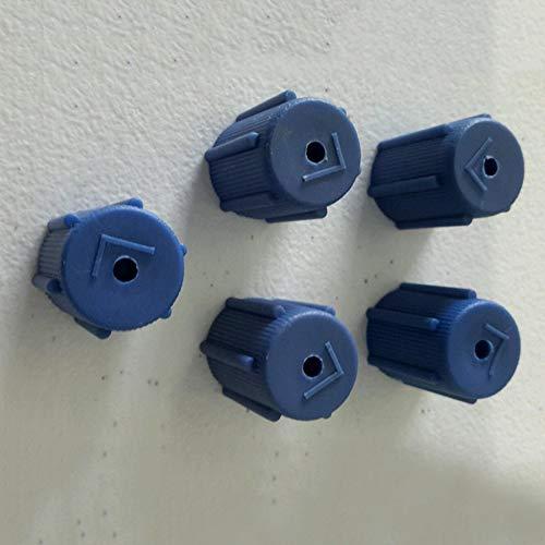 YSHtanj Klimaanlage Kappe Auto Innenraum Teil Cap 5 Stück Auto Auto AC Ladeanschluss Service Low Side Klimaanlage Kappen Zubehör -