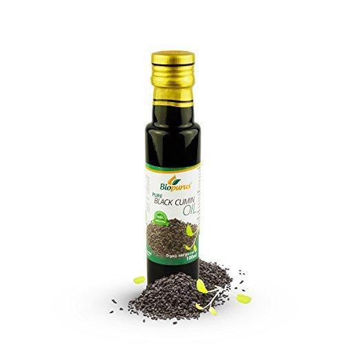Certifié Organc CLD pressé de cumin noir/huile de graines de cumin noir 100ml...