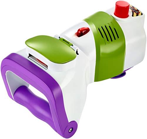 (Mattel GDP85 - Disney Pixar Toy Story 4 Buzz Lightyear Wurfscheiben Blaster mit 5 Projektilscheiben, Rollenspiel Spielzeug ab 3 Jahre)