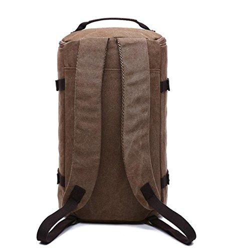 5c857471f7 ... &ZHOU Borsa di tela, Tela secchio borsa viaggio borsa grande capacità  borsa uomini e donne ...