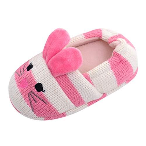 WEXCV Schuhe Kinder Unisex Baby Jungen Mädchen Cartoon Tier Verdicken Plüsch Winter Warme Kleinkind Schuhe Anti-Rutsch Babyschuhe Baumwollschuhe Krabbelschuhe Hausschuhe