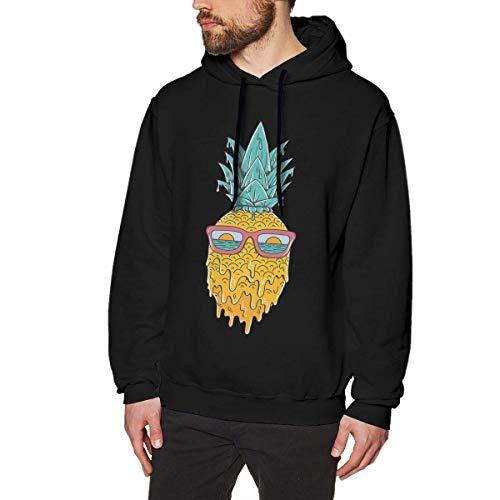 WSND Pineapple Summer Mens Long Sleeve Sweatshirts Men's Hoodies Black Star Zip Youth Sweatshirt