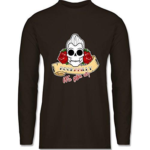 Abi & Abschluss - rockABIlly - wir gehen ab! - Longsleeve / langärmeliges T-Shirt für Herren Braun