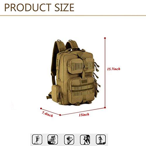 Imagen de huntvp 30l militar tactical molle  de asalto gran bolsas impermeables de nylon para senderismo trekking etc color marrón alternativa
