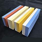 SHARPPSchleifstein-Schleifstein 600/1500 Körnung Professioneller Schleifstein-Schärfhalter aus Gummihalter, 320/1000