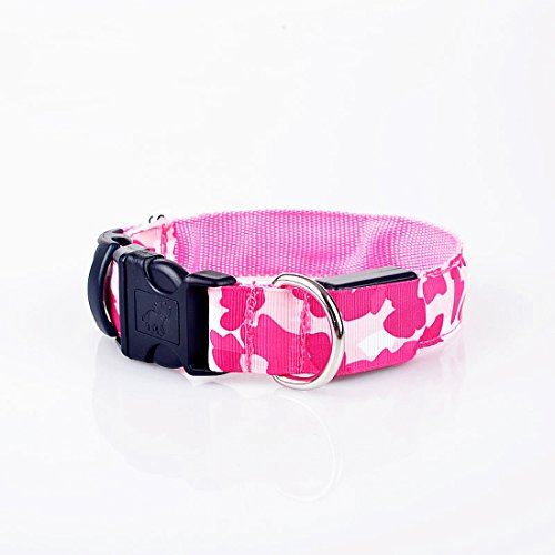 Price comparison product image Hot Sale 4 Sizes Pet Supplies Waterproof LED Pet Collar Dog Collar Dog Supplies