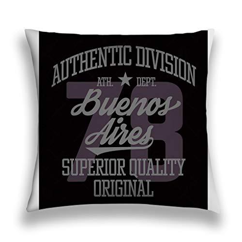 ctf6hfv5 Fundas para Almohada Throw Pillow Cover Pillowcase Buenos Aires Sport Design...