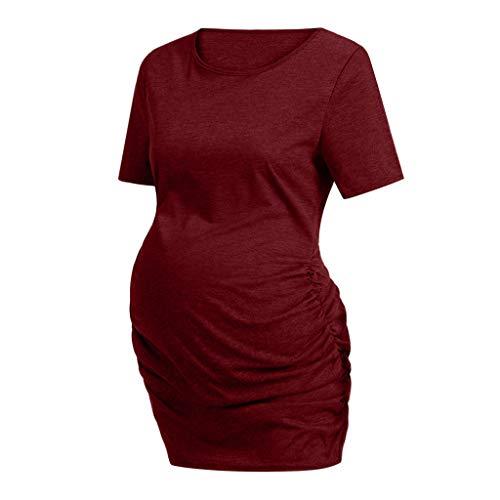 Damen Schwangere Maternity Top Shirts Piebo Witzige süße Schwangere Umstandsmode T-Shirts mit Mutterschafts-niedliche lustige Schwangerschaft Geschenk Kurzarm O-Ausschnitt Oberteil Shirt (Lustig Mutterschaft T-shirts Billig)
