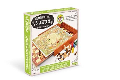 Smir - 21310 - Jeu De Société - Coffrets- Sapelly 5 Jeux Avec Plateau Coulissant