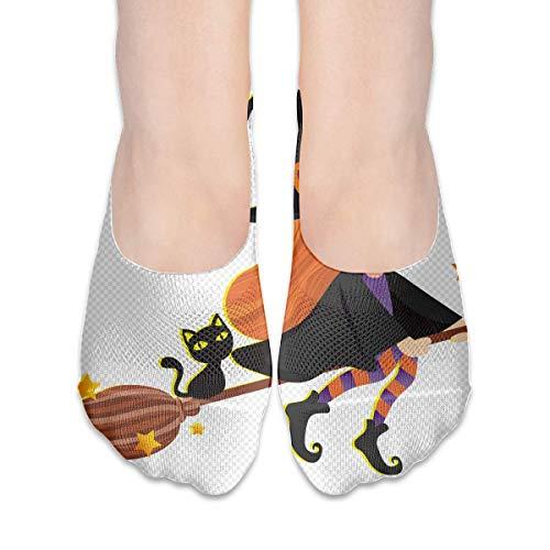 tchcraft Halloween Women's Polyester Cotton Socks Ladies Boat Socks Deodorant Boat Socks Thin Section Casual Socks Low Breast Socks ()