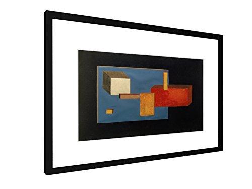 weewado Laszlo Moholy-Nagy - Bühnenelemente - 60x40 cm - Bild mit Rahmen/Gerahmtes Poster - Kunstdruck - Wandbild - Kunst, Gemälde, Foto, Bild - Alte Meister/Museum