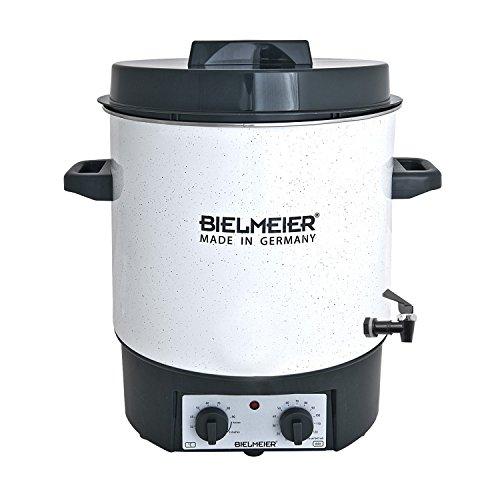 Bielmeier 485127 Einkoch Vollautomat, Emaille, 27 L, 3/8 Zoll Kunststoff-Auslaufhahn, 1800 W, BHG 485.1
