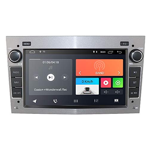 "Hizpo Android 9.0 Autoradio avec Bluetooth GPS Navigation Écran Tactile 7"" pour Opel Antara Vectra Crosa Vivaro Zafira Meriva Support de Commande au Volant WiFi 4G USB SD CAM-in Dab + (Gris)"