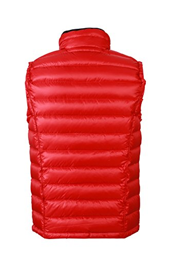 James & Nicholson Herren Jacke Daunenweste Men's Quilted Down Vest Red/Black