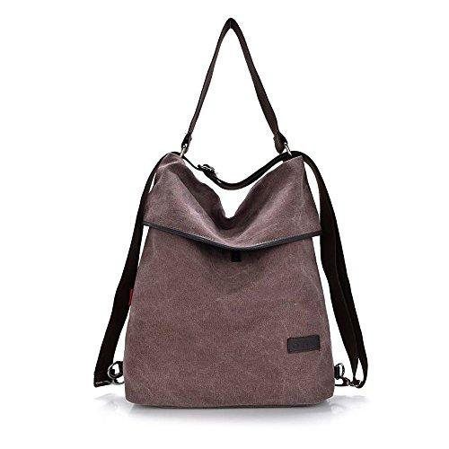 HongyuTing Vintage Canvas Damen Schultertasche Retro Rucksack Multifunktionale Tasche für Arbeit, Schule und Lässige täglich (Tasche Schulter)