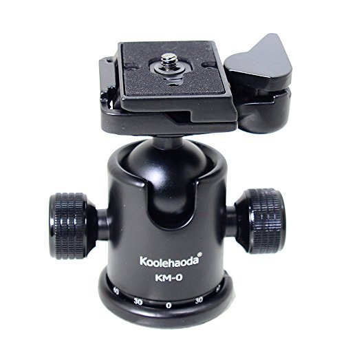 koolehaoda KM-0 Aluminium Kamera Stativ Kugelkopf mit Schnellwechselplatte