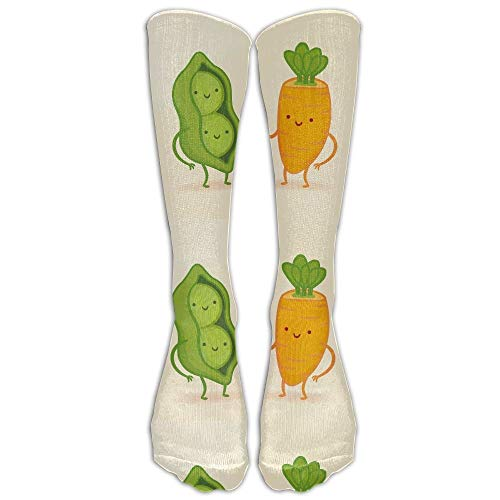 sexy world Unisex Peas And Carrot Casual Novelty Funny Athletic Long Socks 19.7 inch -