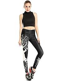 ZHLONG Yoga Tight Dry Pantalon de Super Femme Printemps / Eté Mode Santé Fitness Pantalons Sweat-absorbantes Sport Respirant Impression Neuf Minutes Of Pants