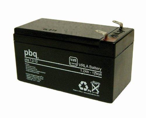 Preisvergleich Produktbild Bleivlies-Akku 12V / 1, 2Ah PBQ mit VDs-Zulassung