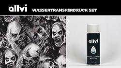 Wassertransferdruck Folie Wtd Starter Set Skulls Ghost Inkl. Aktivator, Messer Und Handschuhe