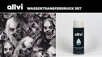Wassertransferdruck Folie Wtd Starter Set Skulls Ghost Inkl. Aktivator, Messer Und Handschuhe 0