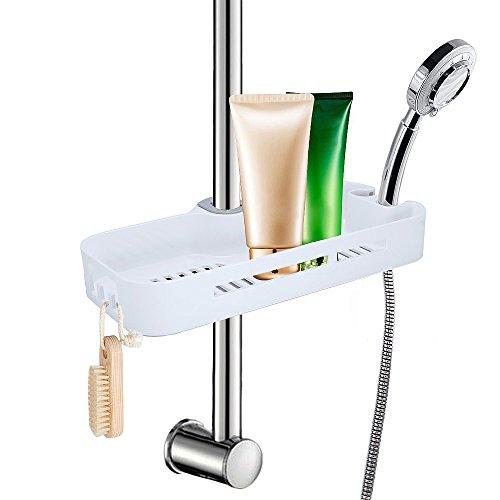 LEF Duschablage zum Hängen ,praktisches Duschregal ,ohne Bohren zu montieren mit 2 Haken,geeignet für sämtliches Duschzubehör