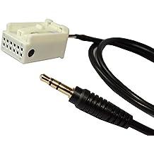 AERZETIX: Adaptador cable AUX con jack 3.5mm para autoradio de coche, vehiculos C10913