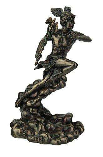 Veronese Design Polyresin griechischen Gottes Hermes Laufen auf Wolken, Statue