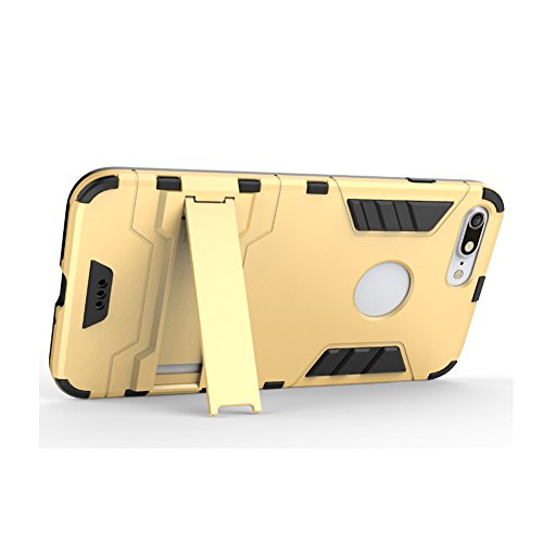 Coque iPhone 8, AVIDET TPU+PC Back Coque / Etui hybride anti-choc (Bleu) Gris