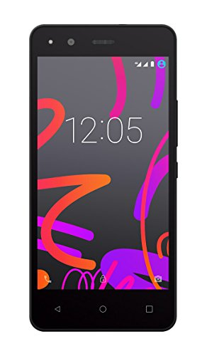 BQ Aquaris M4.5 - Smartphone DE 4.5 Pulgadas (Wi-Fi, Bluetooth 4.0, GPS, Quad Core Cortex A53 1 GHz, 16 GB de Memoria Interna, 2 GB de RAM, Android 5.1 Lollipop), Color Negro