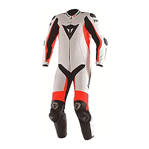 Overall Motorrad Racing Dainese gesamte d-air Misano Sommer 48 BIANCO-ROSSO FLUO-NERO