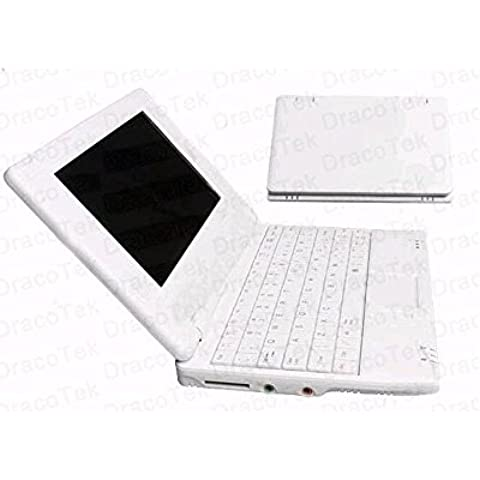 Soledpower® Nuevo (Android 4.2 - 512 MB de RAM, 4 GB de disco duro) Sólido Blanco / Negro ordenador portátil de 7 pulgadas Android Netbook PC, WiFi y la cámara con las aplicaciones instaladas, la compatibilidad con tarjetas SD, Google Play Store, HDMI, Color