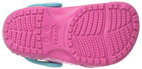Crocs Funlabclogk, Sabots Mixte Enfant Multicolore (Leopard/Pink)