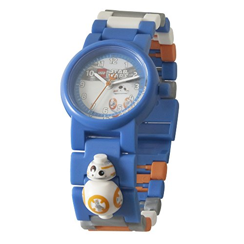 LEGO Star Wars 8020929 The Last Jedi BB-8 Kids Minifigure Link Buildable Watch | blue/orange| plastic | 28mm case diameter| analogue quartz | boy girl | official
