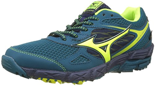 Mizuno Wave Kien G-TX Wos, Zapatillas de Running para Mujer, Multicolor (Bluecoral/Safetyyellow/Peacoat), 39 EU