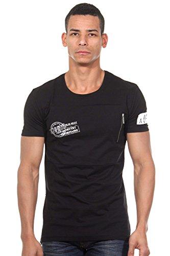 EX-PENT T-Shirt Rundhals slim fit Schwarz