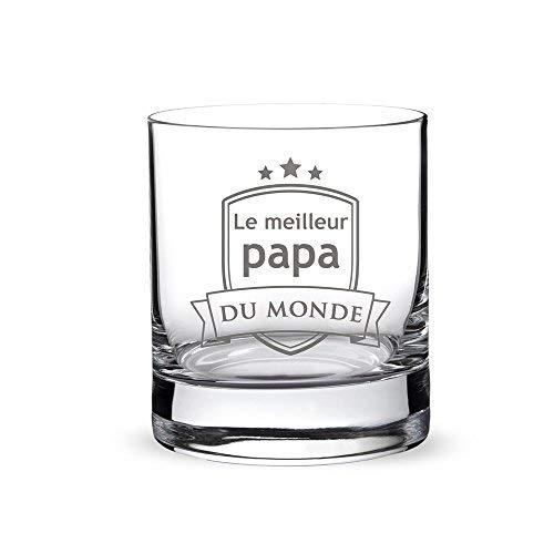 AMAVEL - Verre à Whisky avec Gravure Papa - Blason -...