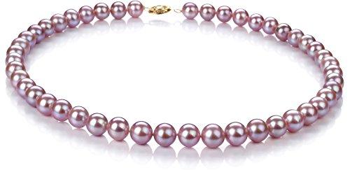 PearlsOnly Halskette mit lavendelfarbenen, 8.5-9mm großen Süßwasserperlen in -