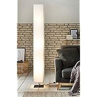 Design Steh Stand Lampe Leuchte Höhe 119 cm Beleuchtung Textil weiß Wohn Zimmer
